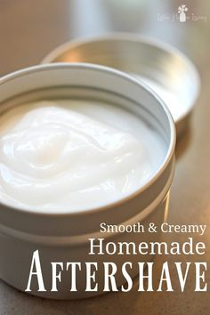 Homemade Aftershave Lotion. So easy to make yourself! For guys or gals.