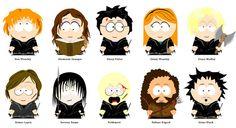 Los personajes de Harry Potter ilustrados como South Park