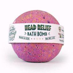 Bath Bomb - Head Relief #essentialoilsforheadaches Relieve Sinus Pressure, Essential Oils For Headaches, Bath Water, Best Bath, Bath Bombs, Baking Soda, Peppermint, Bubbles, Coloring