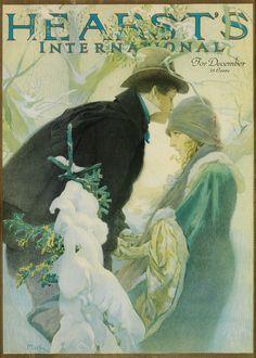 ALPHONSE MUCHA (1860-1939) HEARST'S INTERNATIONAL / FOR DECEMBER. Magazine cover. 1921.