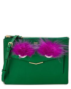 This bag: so wrong but so right.  FENDI Bag Bug Leather Clutch is on Rue. Shop it now.