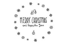 Merry Christmas. Happy New Year by Rommeo79 on Creative Market
