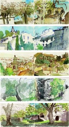 travel sketches from Provence by Martin Stankewitz  This reminds me that you don't always need an overwhelming amount of detail to create a full rendering.
