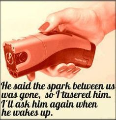 The spark between us was gone...LOL!