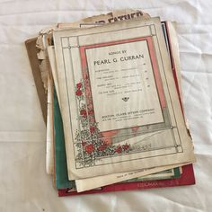Antique Sheet Music. Early 1900s. Beautiful Old by LoveDoveTrading