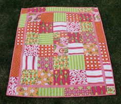 Love this simple little girls quilt...