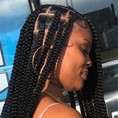 Image may contain: one or more people and closeup Braids Hairstyles Pictures, Box Braids Hairstyles For Black Women, Black Girl Braids, African Braids Hairstyles, Braids For Black Hair, Girls Braids, Hair Pictures, Summer Hairstyles, Protective Hairstyles