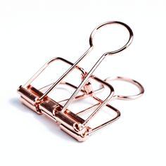 Foldback-Klammern - Binder-Clips - 3,2 cm - rose-kupferDiese Metallklammern eignen sich zum Verschließen von Papiertüten und...