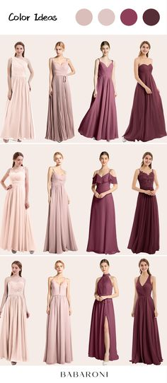 Julia is a beautiful spaghetti strap off-shoulder style gown. The thin straps show your graceful arms and neck. Unique off shoulders look so stunning and graceful. Come and visit babaroni.com, choose from 66+ colors & 500+ styles. #bridesmaiddresses#wedding#babaroni #weddingideas