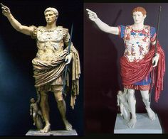 ROMAN SCULPTURE AS THEY WERE PAINTED - Google Search