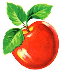 Bright Red Vintage Apples Decals