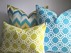 SET OF THREEIndoor / Outdoor 18x18 and by simplydivinebyjoann, $60.00