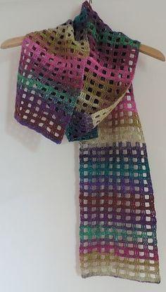 Windowpane Scarf pattern by Adrienne Lash - 3 bollen fenna - Crochet Poncho, Crochet Scarves, Crochet Clothes, Easy Crochet, Crochet Stitches, Crochet Hats, Shawl Patterns, Knitting Patterns, Crochet Patterns