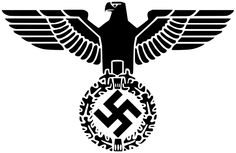 When the Iron Eagle looks over its right shoulder, it represents the country (Reich) and is known as the Reichsadler.
