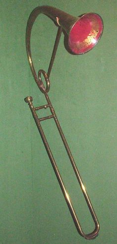 Tenor slide trombone in b flat by Jeremias Franciscus Verhoeven. I would hate to play this! Is it even real?