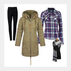 Entdecke deinen neuen Look bei Ninetyfour Fashionstore: www.94fashionstore.de Get The Look, Military Jacket, Coat, Jackets, Shopping, Women, Fashion, New Looks, Down Jackets