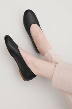 COS image 4 of Slip-on leather shoes in Black