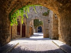 Old Town Rhodes Greece. I lived inside the old walled city for 3 months. It was so incredible to walk the centuries old cobblestone streets.