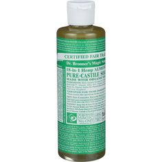 Dr. Bronner's Pure Castile Soap - Fair Trade And Organic - Liquid - 18 In 1 Hemp - Almond - 8 Oz