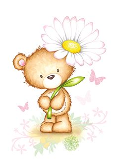Bear holding flowers PNG and Clipart Cute Teddy Bear Pics, Teddy Bear Images, Teddy Bear Pictures, Cute Bears, Teddy Bear Drawing, Teddy Bear Cartoon, Bear Clipart, Cute Clipart, Tatty Teddy