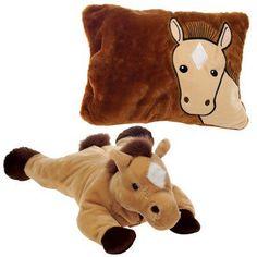 """18"""" horse- peek-a-boo pillow Case of 12"""