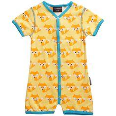 Fox Organic Snapsuit - ittikid • Scandinavian Children's Clothes - Scandinavian Baby and Kids Clothes | Organic Eco Friendly Kids Clothes from Smafolk, Maxomorra, Duns Sweden, Sture & Lisa