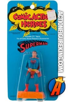 #superman #comicactionheroes #mego #actionfigures Mego Comic Action Heroes 3.75-inch Superman action figure. Check out our huge database of new and vintage collectibles including Mego's Comic Action Heroes... http://actionfigureking.com/list-3/mego/265-mego-comic-action-heroes-database-of-tys-and-collectibles