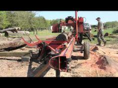 Portable Sawmill Timelapse Wood Mizer amazing scientific video - YouTube