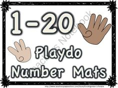 Number Playdough Mats 1-20 product from Kindergarten-Lifestyle on TeachersNotebook.com