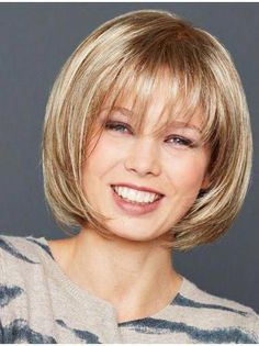 Straight Sleek Synthetic Bob Wigs - April 27 2019 at Short Hairstyles For Women, Wig Hairstyles, Straight Hairstyles, Black Hairstyles, 1920s Hairstyles, Beautiful Hairstyles, Natural Hairstyles, Bob Hairstyles With Bangs, Simple Hairstyles