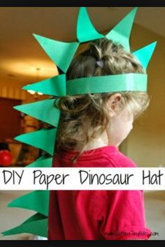 Paper dinosaur hat craft. Perfect for your dino lover!