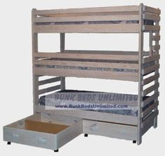Hardware Kit For Triple Bunk Extra-tall With Storage Drawers Or Trundle Bed
