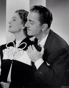 "Myrna Loy and William Powell publicity still for ""Double Wedding"""