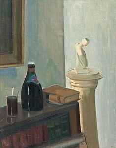 "huariqueje: "" Still Life - Eero Nelimarkka , 1941 Finnish, Oil on canvas, 83 x 65 cm. Nordic Art, Finland, Still Life, Oil On Canvas, Auction, Artwork, Bb, Paintings, Posts"