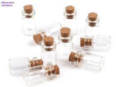 10 kleine Glasfläschchen 13x45 mm von fashion-dekoatelier auf DaWanda.com
