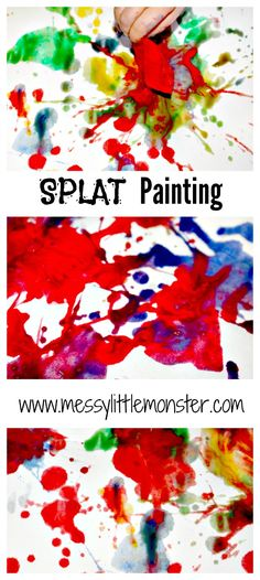 Messy Little Monster: Splat Painting: Easy Art Techniques for Kids