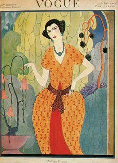 Vintage Vogue Covers, Helen Dryden, July 1, 1920 #VintageVogueCoversKisyovaLazarinova
