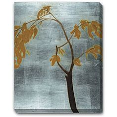 'Silver Etched Tree' Gallery-wrapped Art