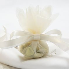 Wedding Favour Tulle Nets Ivory - 10 Pack £2.49