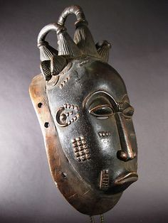 African Gu mask (female) from Côte d'Ivoire (via TRIBAL ART SHOP)
