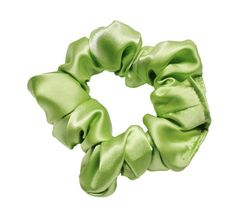 Lime Satin Scrunchies Ponytail Holder Free by ScrunchieKing