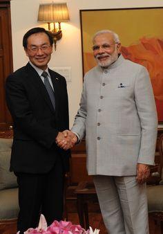 Global President, Panasonic Corporation, Mr. Kazuhiro Tsuga called on the PM Modi