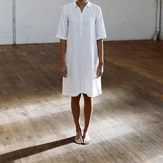 Women's Long Linen Shirt SS14 shot by @parkerfitzhenry. November 2013
