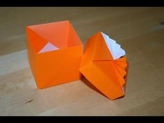 Box Origami, Origami Box Tutorial, Origami Paper Folding, Origami And Kirigami, Paper Art, Paper Crafts, Origami Videos, Traditional Japanese Art, Diy Toys