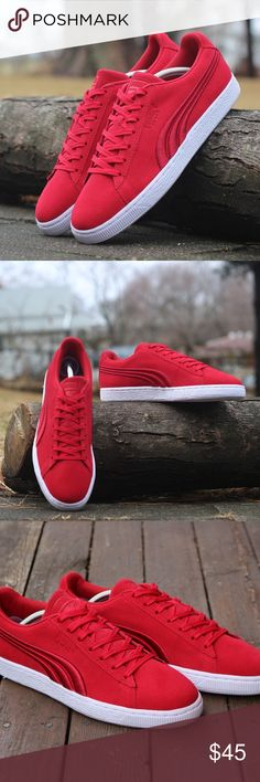 PUMA MEN'S SIZE 10 SUEDE CLASSIC BADGE SNEAKERS Brand New, With Box, 100% Authentic  Puma 362594-02  PUMA SUEDE CLASSIC BADGE SNEAKERS  Men's Size: US 10 Original Price: $75.00  Color:  Barbados Cherr  More style and size on: 1) K&F Facebook page : https://www.facebook.com/stkandf/shop 2) ebay shop: http://stores.ebay.com/kf 3) https://www.bonanza.com/booths/henrylhg 4) http://www.buyalot.net  Thank you for looking at my item Puma Shoes Sneakers