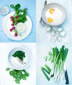 Food...Radishes, eggs, scallions, herbs - yes,yes, yes!!! Staples in my kitchen, each & every one.