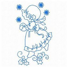 Sweet Night Sunbonnet Girls - Embroidery Playground | OregonPatchWorks