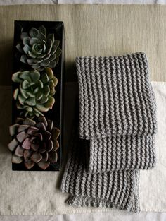 Whit's Knits: Rick Rack Scarf - Knitting Crochet Sewing Crafts Patterns and Ideas! - the purl bee