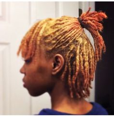 Short locs, colored locs, thick locs, locs, loc journey