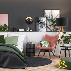 Tropical interior on Behance Tropical Interior, Tropical Decor, Beautiful Houses Interior, Beautiful Homes, Interior Architecture, Interior Design, Leaf Texture, Different Shades Of Green, Make Design
